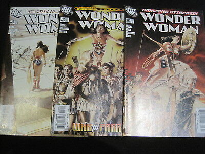 """WONDER WOMAN issues 223,224,225 : """"MARATHON"""" : COMPLETE 3 ISSUE STORY. DC. 2006"""