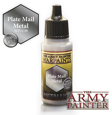 The Army Painter War Game Warpaint Plate Mail Metal 18ml