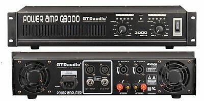 2 Channel 3000 Watts Professional Power Amplifier AMP Stereo GTD-Audio Q3000