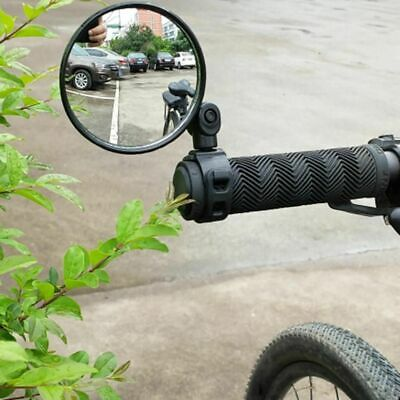 Bicycle Rearview Handlebar Mirrors Cycling Bike Rear View Silicone Mirror Glass