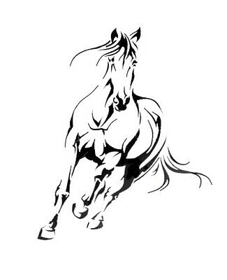 high detail airbrush stencil horse running two FREE UK  POSTAGE