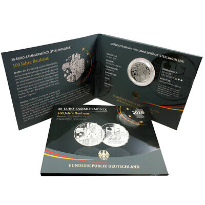 Germany Commemorative Coin 2019 Pf 100 Years Bauhaus Silver Sp Folder