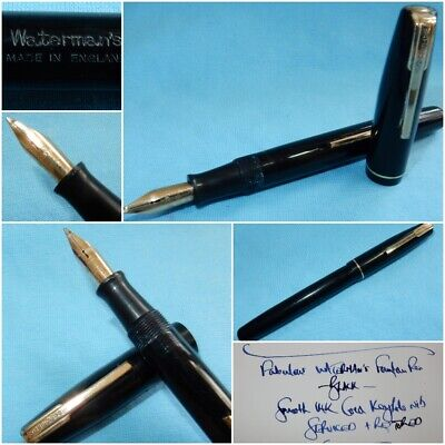 Vintage Waterman Ideal Fountain Pen 14K Gold Keyhole Nib - Restored & Serviced