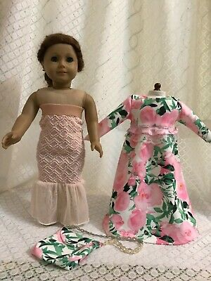 """Doll clothes Mermaid fishtail dress bag for American girl 18"""" Doll Clothes 3pc"""