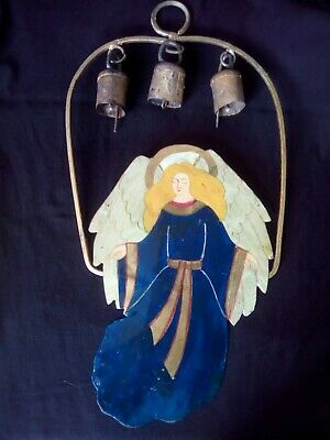 Interesting wind chime french 19thc hand painted.