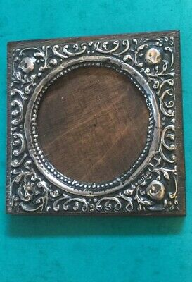 Exquisite Antique Solid Silver Oak Backed Photo Frame - Birmingham 1904. A435.