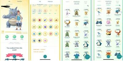 Pokemon Go Account Level 38 | Instinct Team | Handplayed | Gmail | Raid Beast