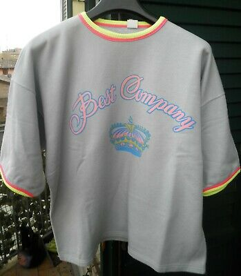 1980 Maglia Felpa Best Company M Vintage Paninaro Corona Crown Sweat Shirt