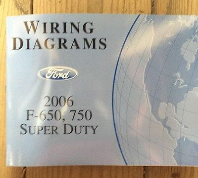 2006 ford f650 f750 trucks factory wiring diagrams manual