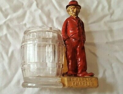 Antique 1910's Charlie Chaplin Candy Container Bank Geo. Borgpeldt New York red