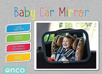 Onco Baby Car Mirror Rear Facing Child Seat Peace of Mind Keep an Eye Baby