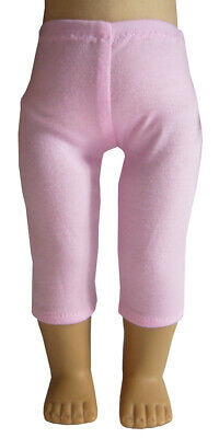 "Fits 18"" American Girl Doll Clothes Pink Knit Capri Leggings"