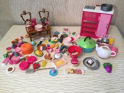 Large Bundle Barbie Dolls Kitchen Accessories With Furniture  - (B170)