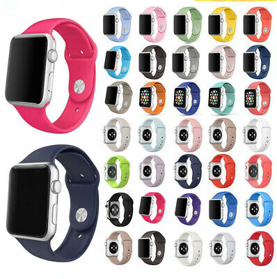 Silicone Band Strap For Apple Watch iWatch Sports Series1-4 38mm 42mm 40mm 44mm