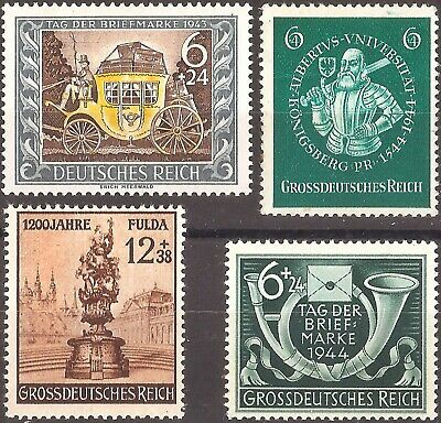 DR Germany RARE NAZI WWII WW2 WK2 STAMP TRANSPORT KNIGHT SWORD MEMORIAL SYMBOL