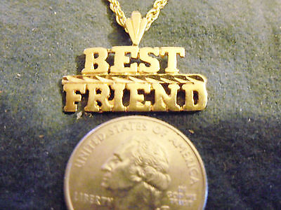 bling gold plated LOVE best friend buddy FASHION PENDANT charm necklace JEWELRY