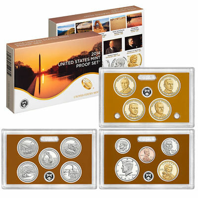 2014 S US Mint CLAD Proof 14 Coin Set with box and COA
