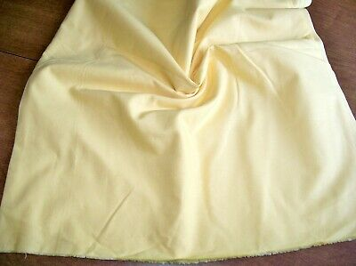 Solid Yellow COTTON FABRIC 2 ¼ yd Quilt Weight Sew Craft 44 x 81