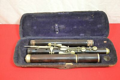 Vintage Clarinet w/Case Upper Lower Barrel Joints Parts or Repair #1820