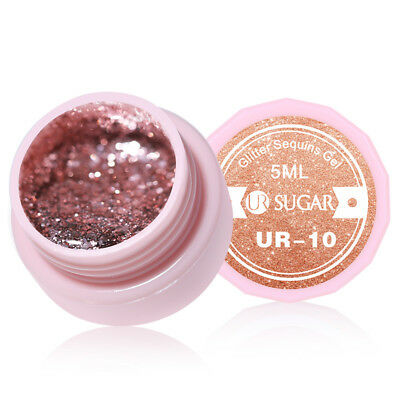 UR SUGAR 5ml Nagel Gellack Rose Gold Nail Art Gel UV Polish Nagellack Soak Off