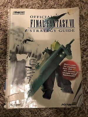 Final Fantasy VII 7 Official Strategy Guide Brady Games Sony PS1 SHIPS FREE!