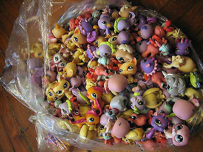 LITTLEST PET SHOP LOT OF 10 pcs RANDOM PICK LPS ANIMALS LOOSE USED FIGURES