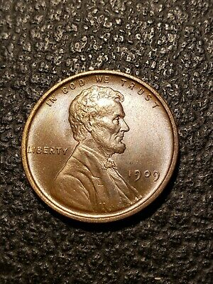 1909 Lincoln Wheat Penny Unc. Nice Better Date Cent