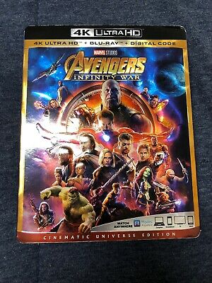 Avengers Infinity War (4k Ultra HD/Blu ray/Digital HD)