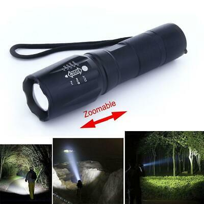 XML-T6 5000 Lumens 3 Modes Flashlight Zoomable Durable Micro USB Charging  A#