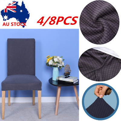 4/8X Fit Dining Chair Covers Stretch Cover Protector Slipcover Thicken Protector