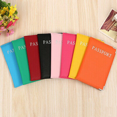 Multifunction Soft Passport Cover Travel Accessory Candy Color PU Case Holder