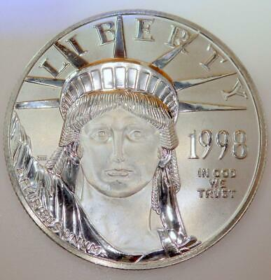 1998 ONE Ounce PLATINUM $100 American EAGLE Coin Brilliant Uncirculated (BU)