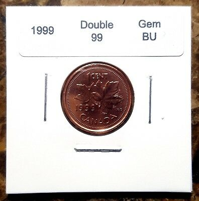 Canada 1999 Small Cent *Double 99* UNC MS Gem BU!!