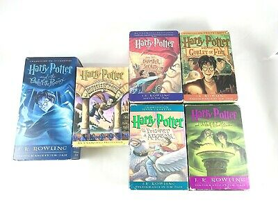 Harry Potter  Years 1 2 3 4 5 6 Audio Cassette Books in Box Free Shipping