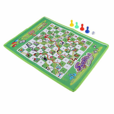 Ludo Snakes and Ladders Draughts Game Family out door Game Mat Traditional Board