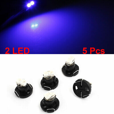5 Pcs Blue T4.2 Wedge 1210 2 LED Bulb Cluster Instrument Dash Light Lamp 12V