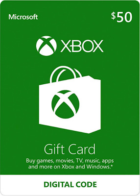 XBOX Live $50 USD Gift Card for Microsoft Xbox One / Xbox 360 - 50 Dollars [USA]