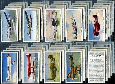 Tobacco Card Set, WD & HO Wills, SPEED, Fast Car, Boat, Plane, Speed Record,1938