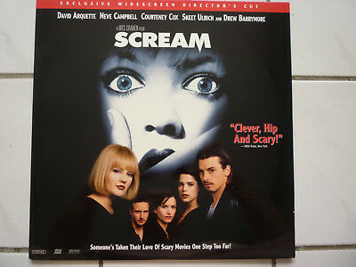 Scream (Unrated Director's Cut Craven! Cox Campbell Barrymore US Laserdisc 1996)