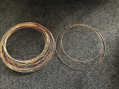 8 x Raised Wire Wreath Rings - Christmas Wreaths 14inch Lower Ring 11inch Upper