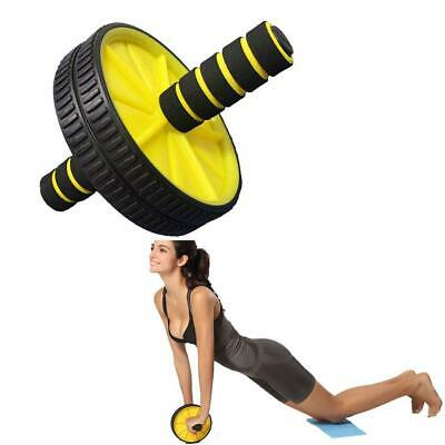 Gym Abs Wheel Abdominal Roller Exercise Fitness Body Core Strength Home Training