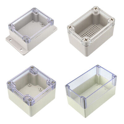 Various Sizes ABS Plastic DIY Junction Box Enclosure Project Case w Clear Cover