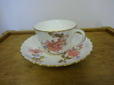 vintage minton fluted white china teacup & saucer pattern  47679
