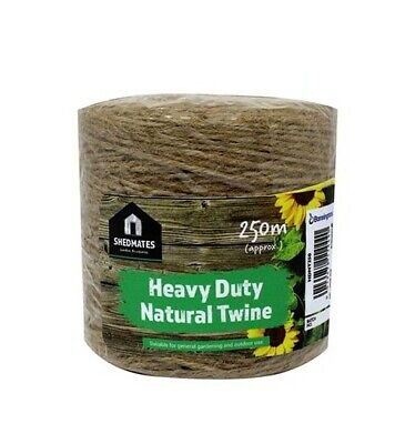 250 Metre Heavy Duty Natural Twine String Rustic Home Craft Plant Garden Diy