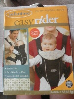 9243bc87319 Infantino Baby Carrier Front Infant Seat Belt Easy Rider Ergonomic 8-20 LBS