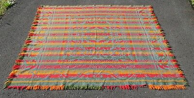 Antique 19thC 4 Color Woven Coverlet Signed Henry Stager Mount Joy PA
