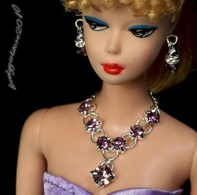 "Handmade doll jewelry necklace earrings fits Barbie doll and 11.5/"" dolls 487A"