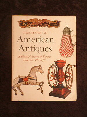 Clarence Hornung - Treasury of American Antiques HC/DJ folk arts and crafts
