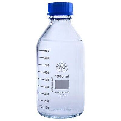 Simax Clear Graduated Lab Bottles 1000ml - Pack of 10