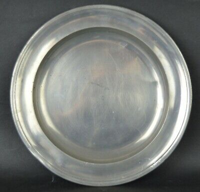 Antique Pewter Plate With Touchmark. 9.25inches diameter. 24cm.